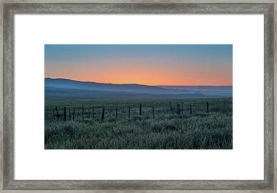Sunset, Carrizo Plain Framed Print