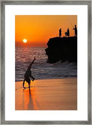 Sunset Cartwheel Framed Print by Jill Reger