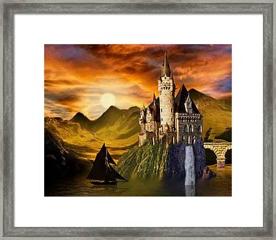 Sunset Castle Framed Print