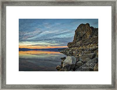 Sunset Cave Rock 2015 Framed Print