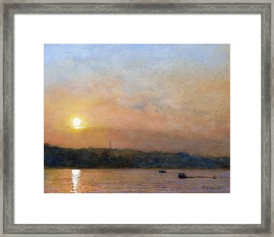 Sunset- Cazenovia Lake Framed Print