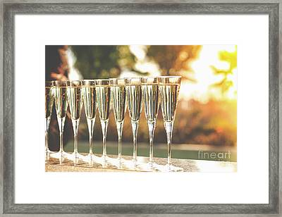 Sunset Champagne Framed Print