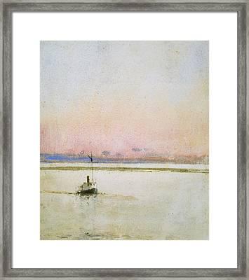 Sunset Framed Print by Childe Hassam