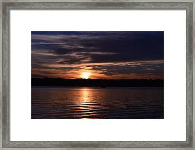 Sunset Framed Print by Cim Paddock