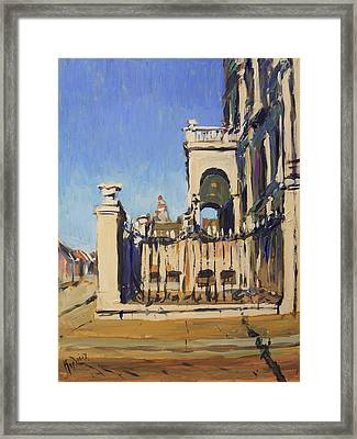 Sunset Cityhall Maastricht Entrance Framed Print
