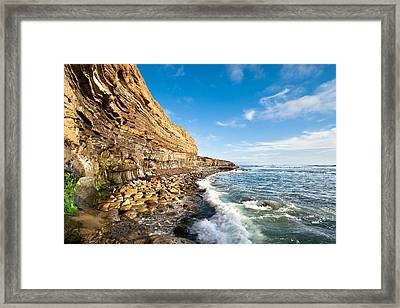 Sunset Cliffs Framed Print by Ryan Weddle