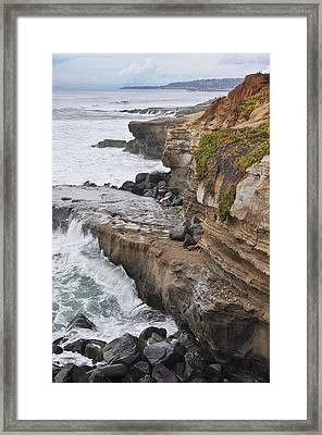 Sunset Cliffs San Diego Portrait Framed Print