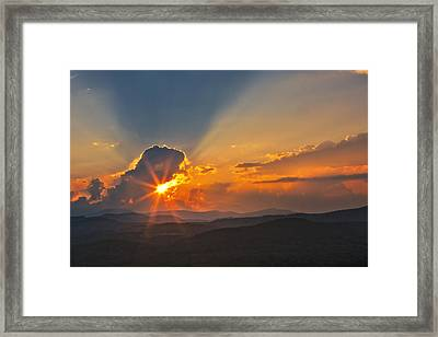 Framed Print featuring the photograph Sunset - Close Another Day by Ken Barrett