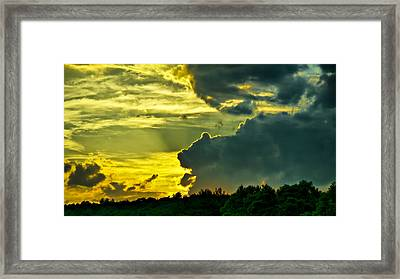 Sunset Cloud Animal Framed Print by Edward Myers