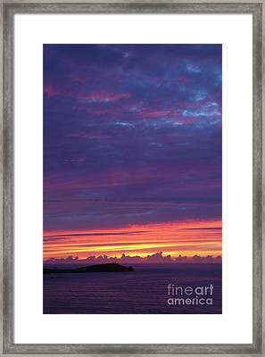 Sunset Clouds In Newquay, Uk Framed Print by Nicholas Burningham