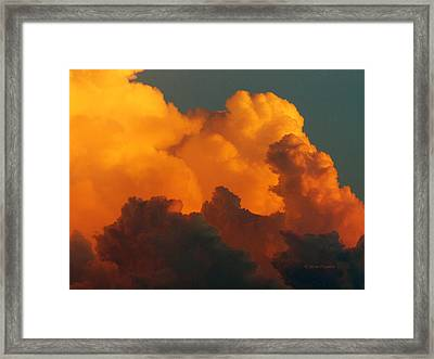 Framed Print featuring the digital art Sunset Clouds by Jana Russon