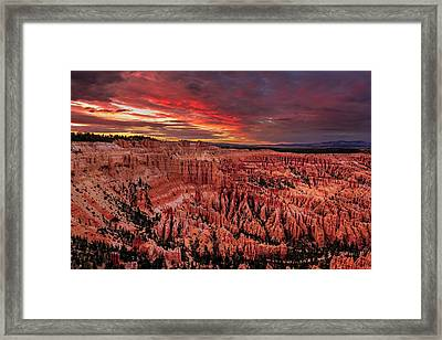 Sunset Clouds Over Bryce Canyon Framed Print