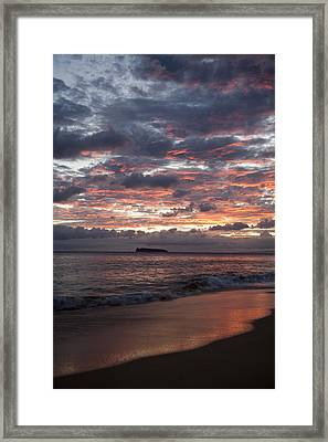 Sunset Colors At Makena Framed Print by Peter French - Printscapes