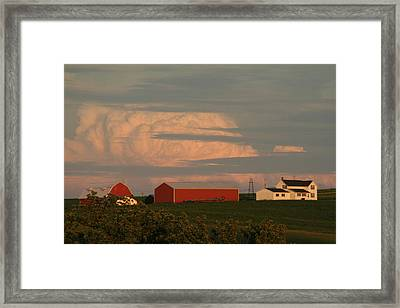 Sunset Colors Framed Print by Linda Ostby