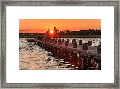 Sunset Couple Framed Print
