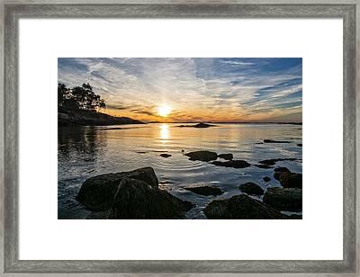 Sunset Cove Gloucester Framed Print