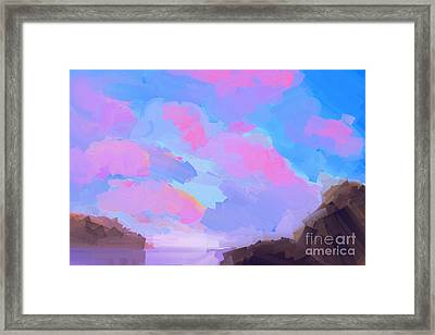 Sunset Cove  Framed Print by Pixel Chimp