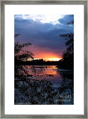 Sunset Cove Framed Print