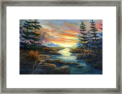 Sunset Creek Framed Print by Brooke Lyman