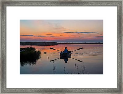 Sunset  Crossing Framed Print