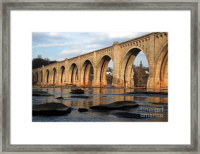 Framed Print featuring the photograph Sunset Crossing by Kelvin Booker