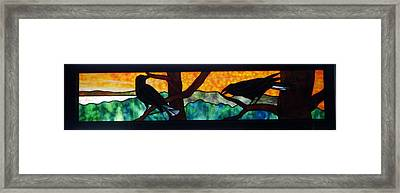 Sunset Crows Framed Print by Jane Croteau