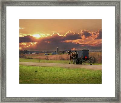Sunset Cruise 2 Framed Print