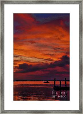 Sunset Cruise  Framed Print by Dave Bosse