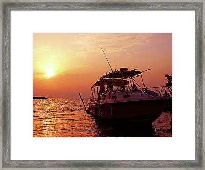 Sunset Cruise Framed Print by Graham Taylor