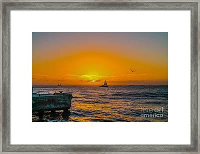 Sunset Cruise - Key West 2 Framed Print