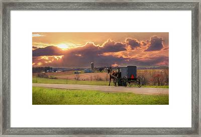Sunset Cruise Framed Print by Lori Deiter