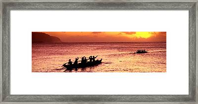 Sunset Cruise Framed Print