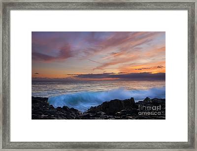 Sunset Curl Framed Print by Mike Dawson