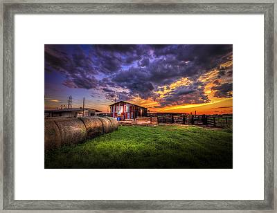 Sunset Dairy Framed Print