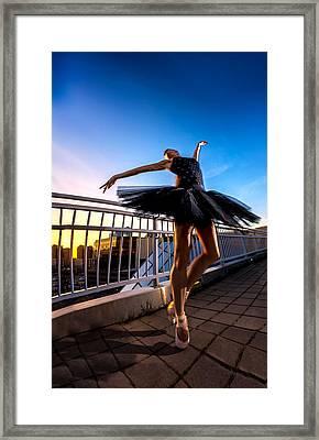 Sunset Dancer Framed Print