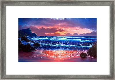 Sunset Framed Print by Daniel Bergren