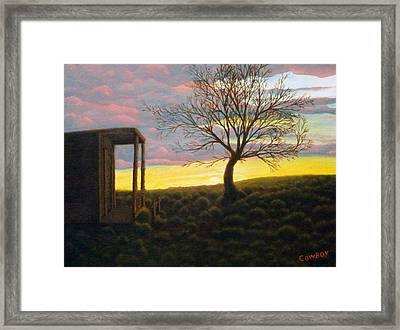 Sunset Framed Print by Darren Yarborough