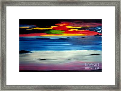 Sunset Framed Print by David Hatton