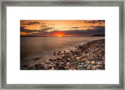 Sunset Deganwy Beach Framed Print by Adrian Evans