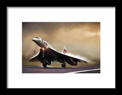 Supersonic Speed Framed Prints