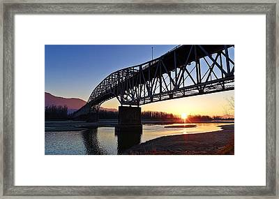 Fraser River, Bc  Framed Print by Heather Vopni