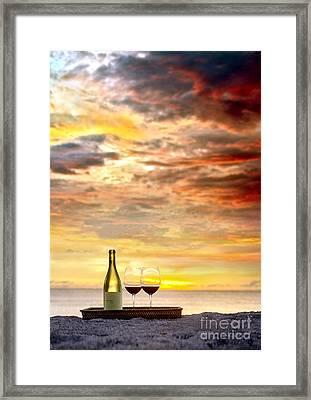 Sunset Devine Framed Print by Jon Neidert