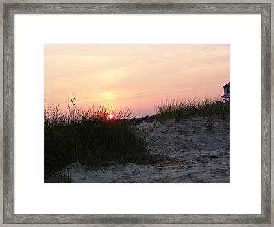 Sunset Dewey Beach Framed Print by Kevin Callahan