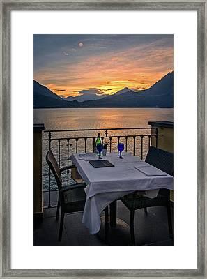 Sunset Dining Framed Print