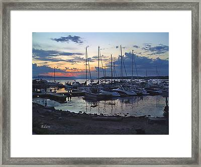 Framed Print featuring the photograph Sunset Dock by Felipe Adan Lerma