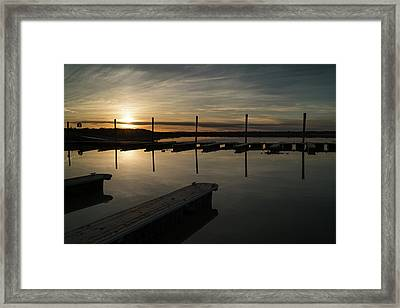 Sunset Docks Framed Print by Justin Johnson