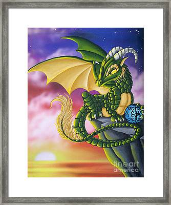 Sunset Dragon Framed Print