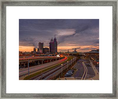 Sunset Drama Framed Print