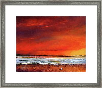 Sunset Dreamin Framed Print by Toni Grote