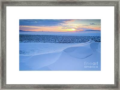 Sunset Drift Framed Print by Idaho Scenic Images Linda Lantzy